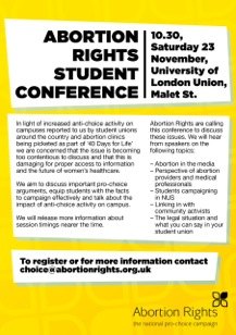 Abortion Rights Student Conference Flyer1